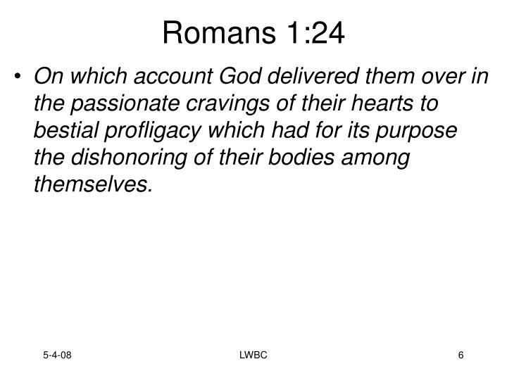 Romans 1:24