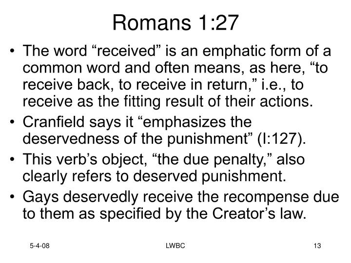 Romans 1:27