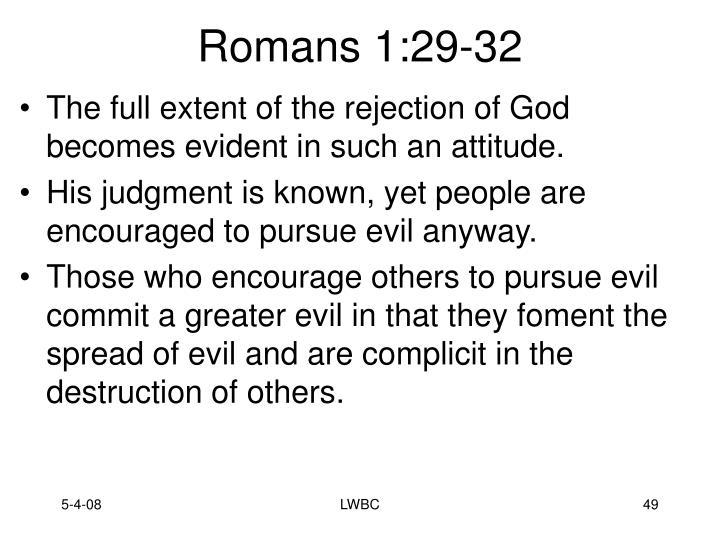 Romans 1:29-32