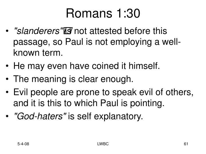 Romans 1:30