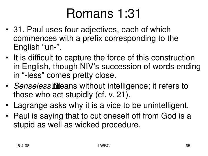 Romans 1:31