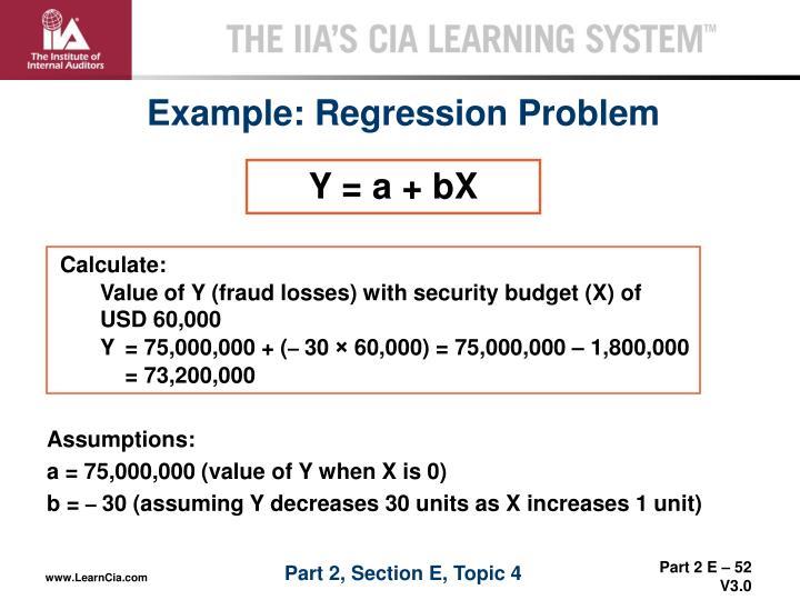 Example: Regression Problem