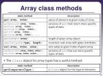 array class methods