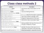 class class methods 2
