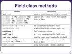 field class methods