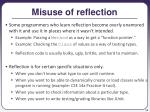 misuse of reflection