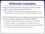 reflection examples