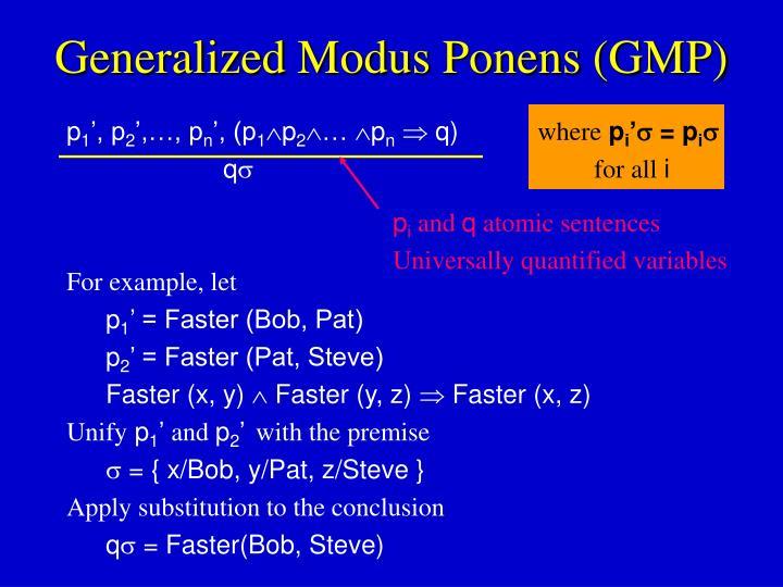Generalized modus ponens gmp