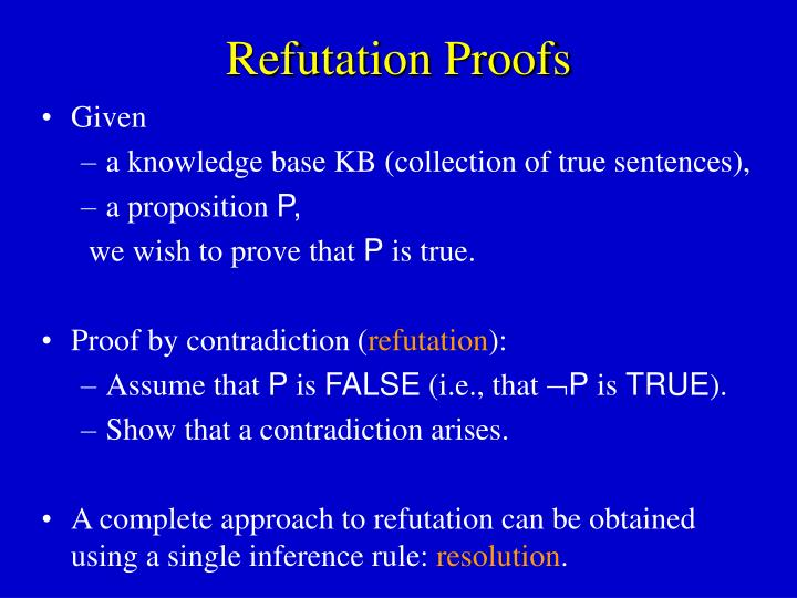 Refutation Proofs