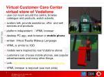 virtual customer care center virtual store of vodafone
