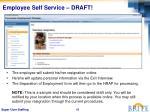 employee self service draft
