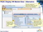 pa20 display hr master data alternative