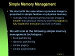 simple memory management