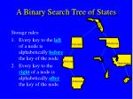 a binary search tree of states3