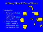 a binary search tree of states4