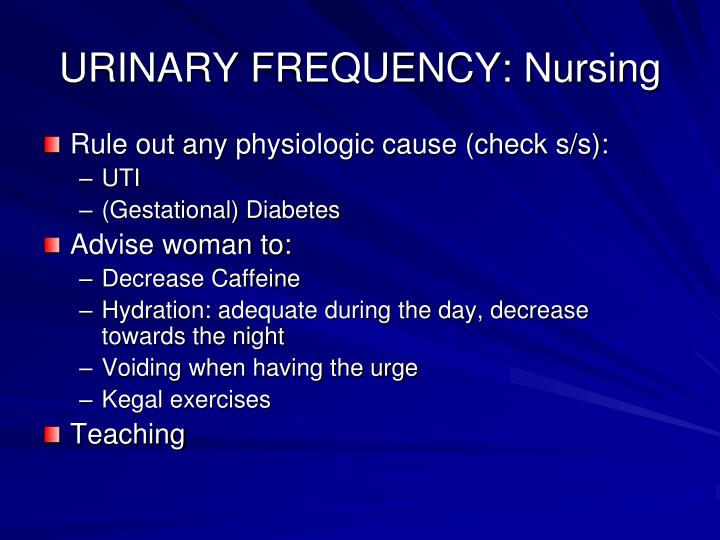 URINARY FREQUENCY: Nursing