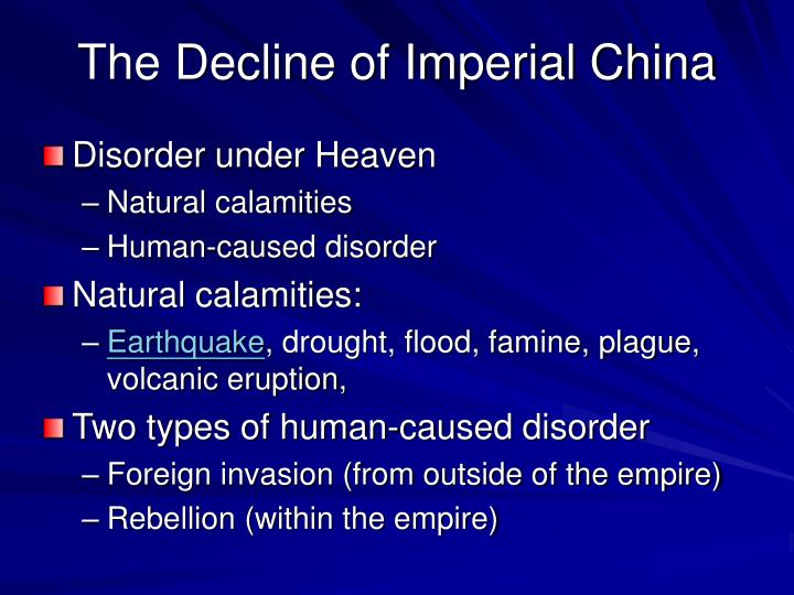 the decline of imperial china n.