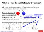 what is traditional molecular dynamics