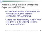 alcohol drug related emergency department ed visits