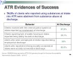 atr evidences of success