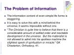 the problem of information