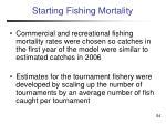 starting fishing mortality