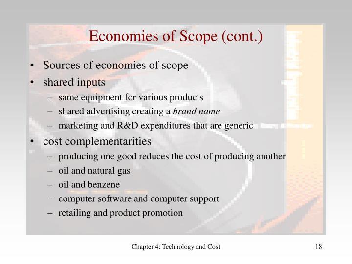 Economies of Scope (cont.)