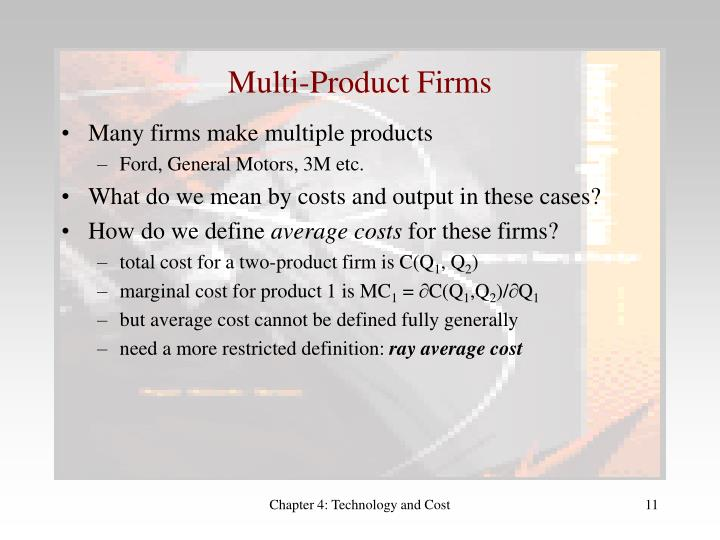 Multi-Product Firms