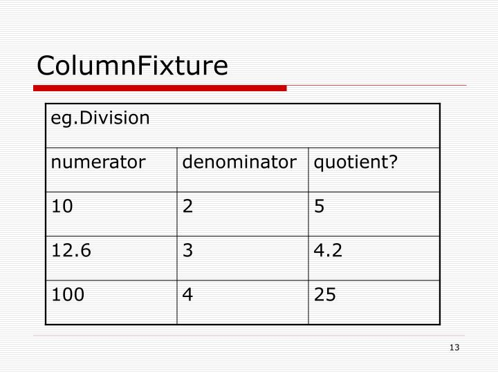 ColumnFixture