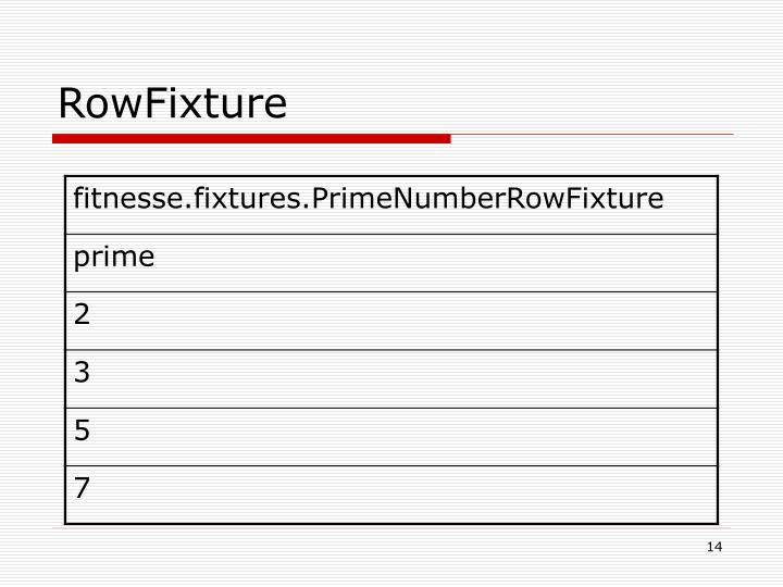 RowFixture