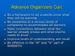 advance organizers can