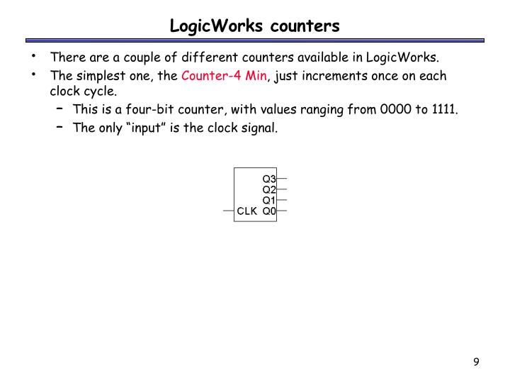 LogicWorks counters