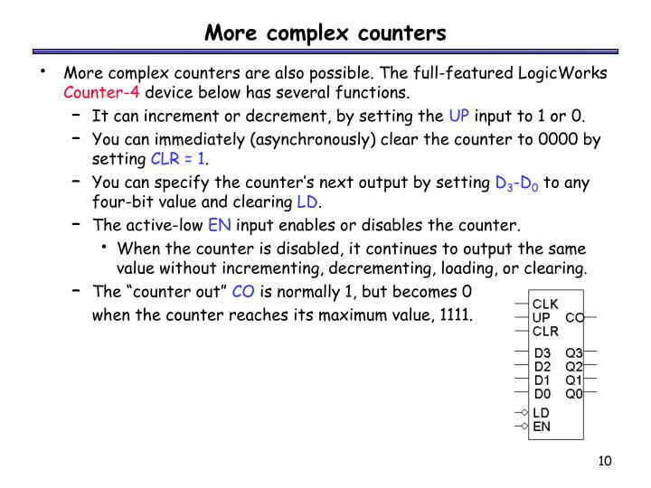 More complex counters