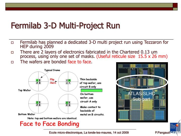 Fermilab 3-D Multi-Project Run