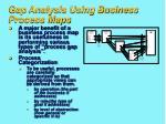 gap analysis using business process maps