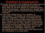 buddhism vegetarianism