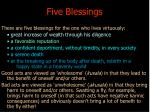 five blessings