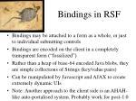 bindings in rsf