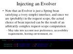 injecting an evolver