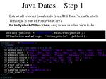 java dates step 1
