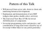 pattern of this talk