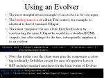 using an evolver