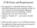 uvb goals and requirements
