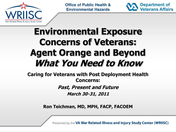 environmental exposure concerns of veterans agent orange and beyond what you need to know n.