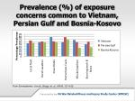 prevalence of exposure concerns common to vietnam persian gulf and bosnia kosovo