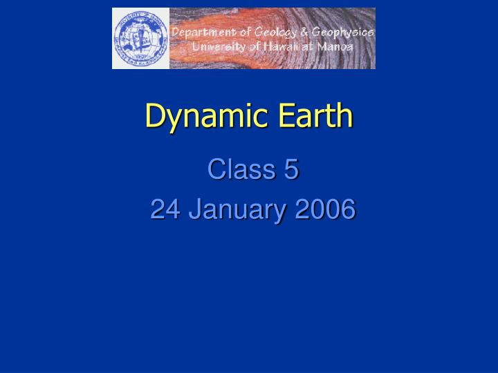 dynamic earth n.