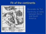 fit of the continents