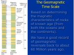 the geomagnetic time scale