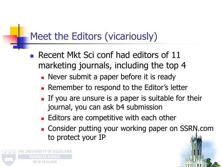 Meet the Editors (vicariously)