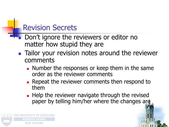 Revision Secrets
